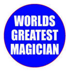 Worlds Greatest Magician Button